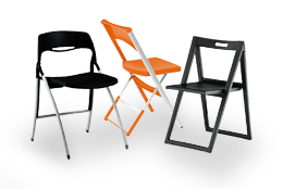 Produzione sedie e tavoli per congressi riunioni e for Sedie pieghevoli trasparenti